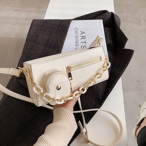 Bandolera coreana de un solo hombro con cadena NHJZ318289's discount tags
