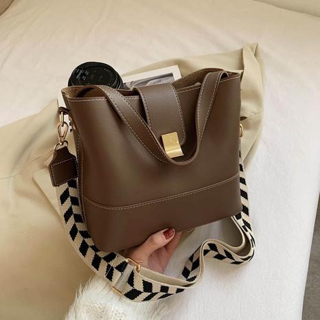 sac seau de grande capacité de couleur unie à la mode NHJZ318296's discount tags