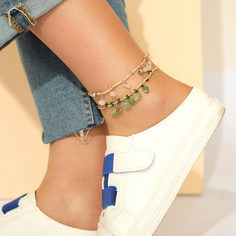 New Bohemia style gravel anklet 2-piece set  NHGY318328's discount tags