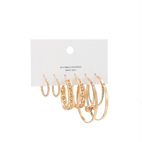 ensemble de boucles d'oreilles en plaqué or NHBD314237's discount tags