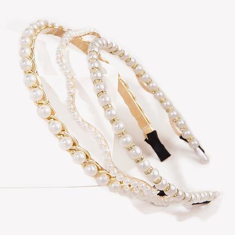 Koreanisches einfaches Perlenstirnband NHGE314262's discount tags
