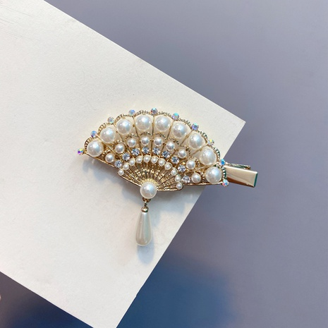Retro Diamond Hanging Pearl Alloy Hairpin  NHFS314264's discount tags