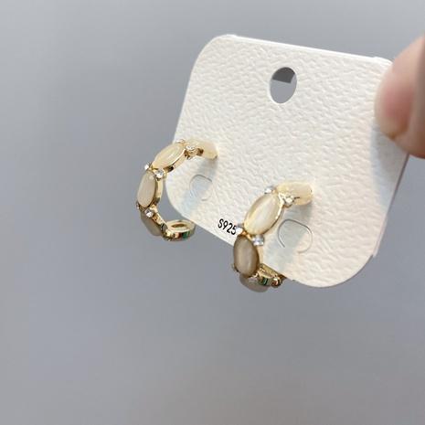 Boucles d'oreilles zircon aiguille argent S925 NHFS314267's discount tags