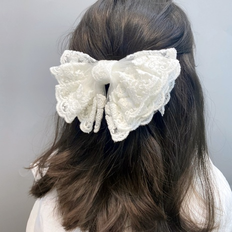 Korean simple lace bow hairpin  NHFS314272's discount tags