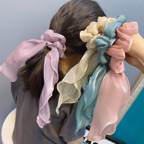 new korean sweet bow long hair scrunchies NHFS314273's discount tags