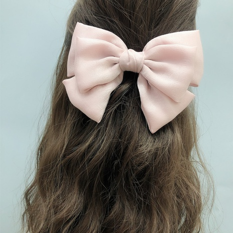 Korean pink multi-layer big three-layer big bow hairpin  NHFS314277's discount tags