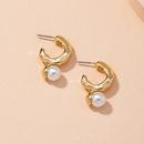 boucles d39oreilles rtro simples avec perles NHAI314279