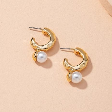 retro simple pearl earrings NHAI314279's discount tags