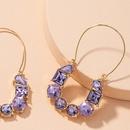 boucles d39oreilles rtro en diamant violet NHAI314283