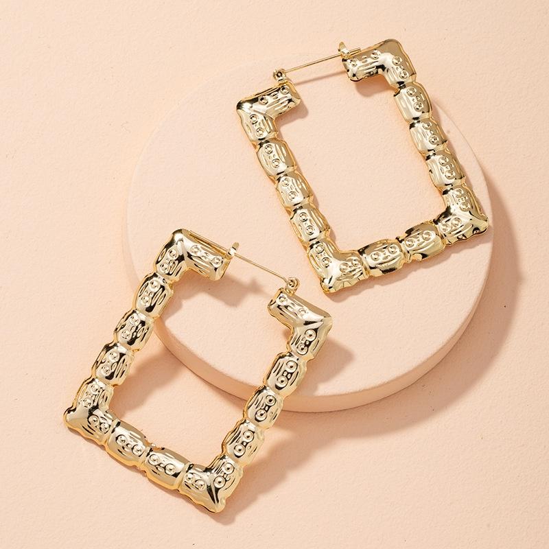 retro square fashion earrings  NHAI314285