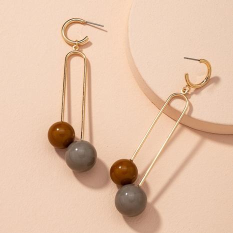 boucles d'oreilles boule rétro mode simple NHAI314287's discount tags