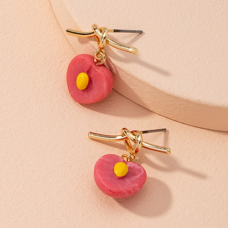 Korean style simple cute strawberry alloy earrings NHAI314298's discount tags