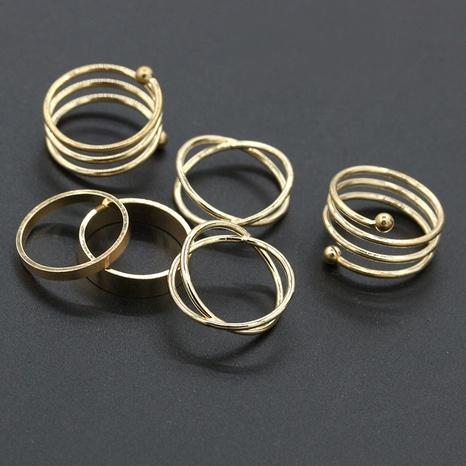 nouvel ensemble de six anneaux métalliques croisés NHDP314304's discount tags