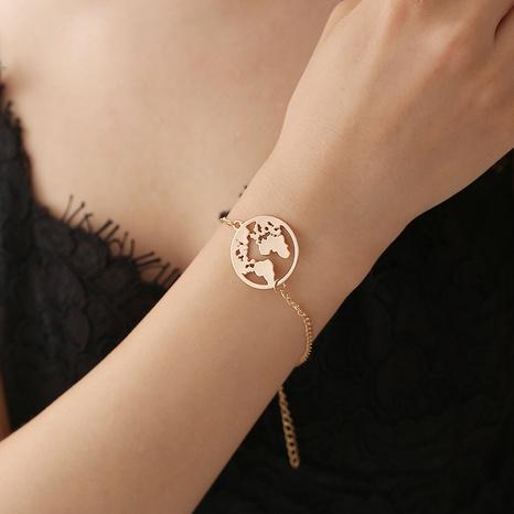 alloy creative map pendant bracelet NHDP314306's discount tags