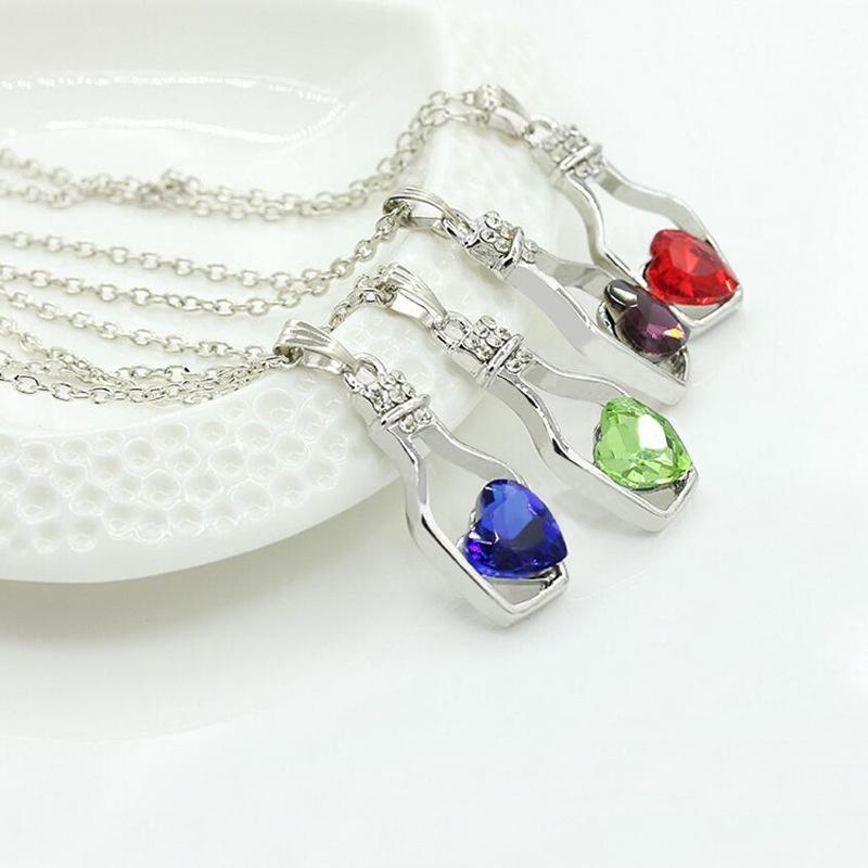 Crystal Bottle Necklace  NHDP314311
