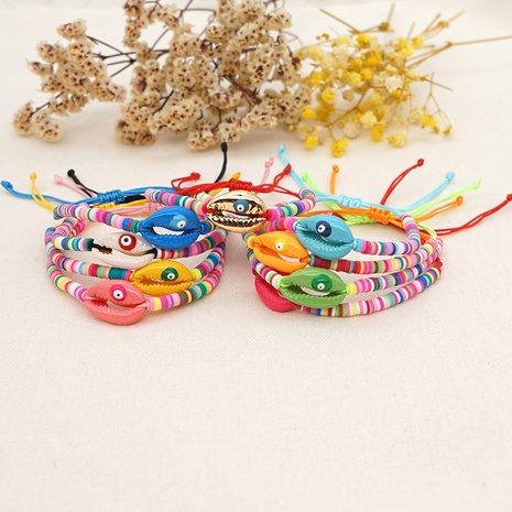 Simple bohemian natural shell bracelet NHGW314344's discount tags