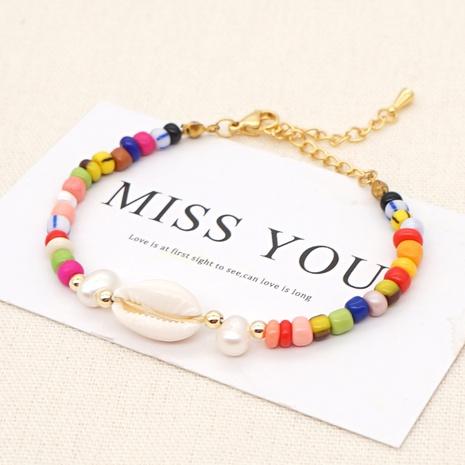 Bracelet en perles de couleur baroque simple NHGW314348's discount tags