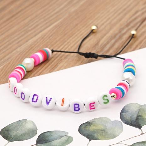 Bracelet lettre simple avec perles baroques bohème NHGW314349's discount tags