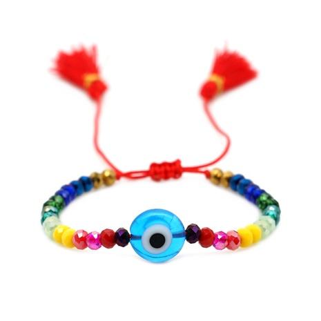 simple bohemian ethnic style rainbow tassel couple bracelet NHGW314350's discount tags