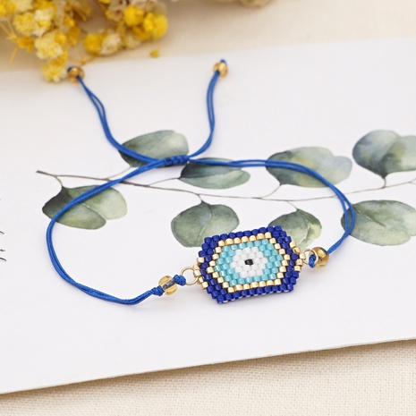 Simple fashion ethnic Turkish blue eyes beaded bracelet NHGW314351's discount tags