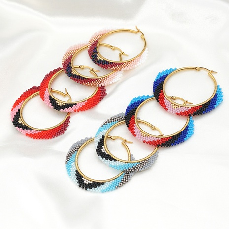 fashion ethnic style exaggerated hoop earrings NHGW314353's discount tags