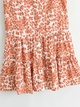 Vneck singlebreasted sleeveless floral dress   NHAM314359