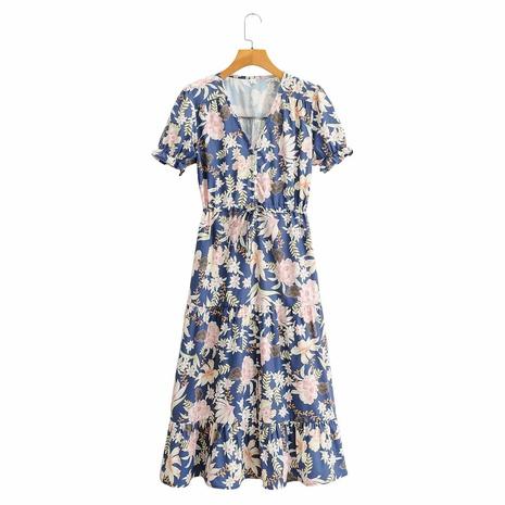 vestido de manga corta con cuello en V estampado NHAM314360's discount tags
