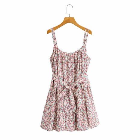vestido de falda de tirantes holgado con estampado floral NHAM314362's discount tags