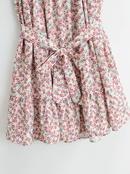 vestido de falda de tirantes holgado con estampado floral NHAM314362