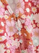 Falda estampada dividida en la cintura con cordn de cuello en V NHAM314365