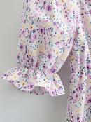 vestido retro de manga corta con volantes y cuello cuadrado NHAM314374