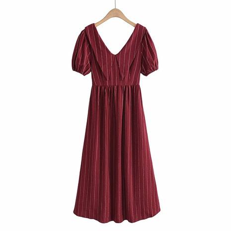 vestido largo halter con cordones NHAM314386's discount tags