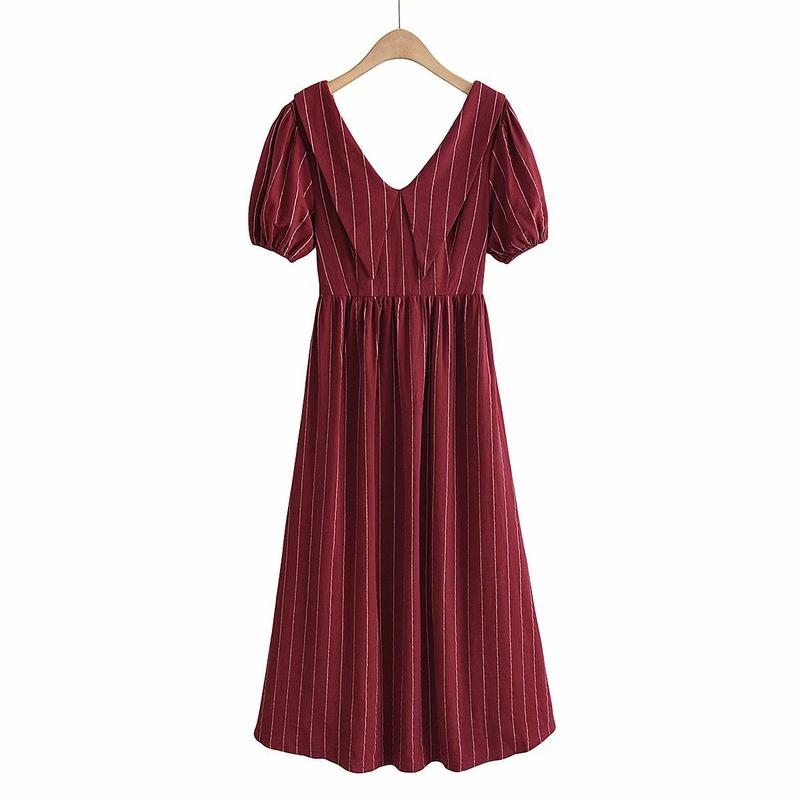 vestido largo halter con cordones NHAM314386