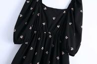 vestido retro bordado de primavera NHAM314398