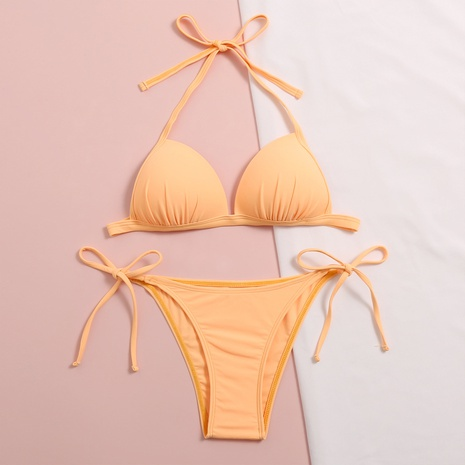 traje de baño bikini dividido en color liso NHHL314402's discount tags