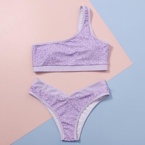 bikini estampado sexy de cintura alta y un hombro NHHL314408's discount tags