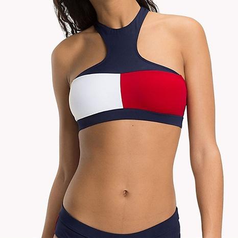 traje de baño bikini dividido triángulo de moda sexy NHHL314414's discount tags