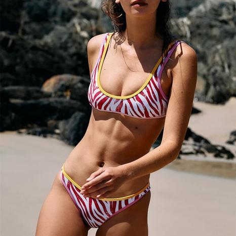 nuevo traje de baño bikini dividido estampado NHHL314418's discount tags