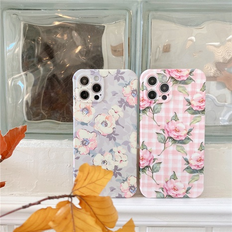 Korean floral mobile phone case for Apple XR XS se2 NHFI314441's discount tags