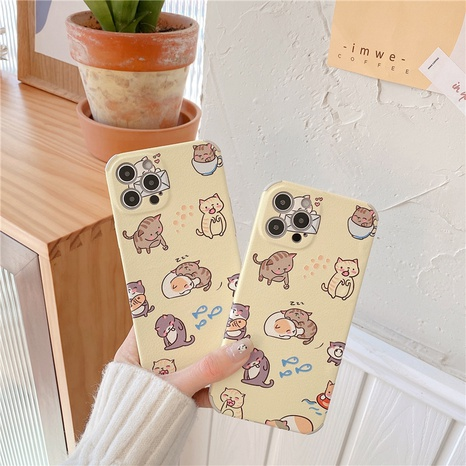 korean cute kitten mobile phone case for iPhone8plus XR XS NHFI314444's discount tags