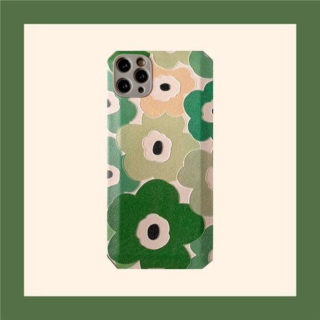 Korean green flower phone case for iPhone8plus XR se2 xs NHFI314452's discount tags