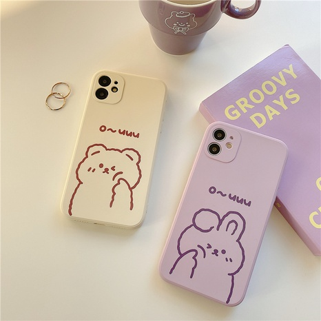 cute fashion bear rabbit phone case for Apple 8plus se2 XR  NHFI314454's discount tags