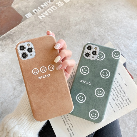 Cute couple smiling face phone case for iPhone8plus XR se2 NHFI314456's discount tags