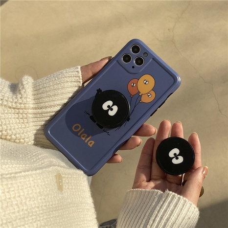 black briquettes stand cute cartoon phone case for apple se2 8plus XR NHFI314464's discount tags