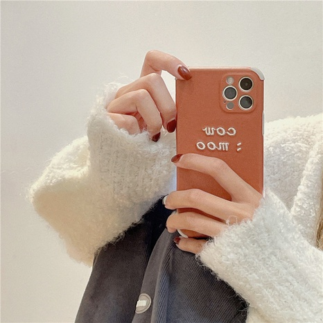 Korean simple embroidery English letters phone case for iPhone8plus XR XS NHFI314470's discount tags