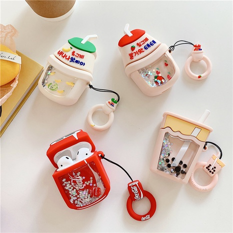 Cartoon drink milk tea silicone soft shell suitable for Airpod Pro NHFI314486's discount tags