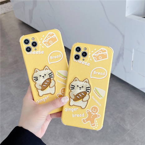 Embroidery cartoon bread cat phone case for iPhone8plus se2 XR NHFI314489's discount tags