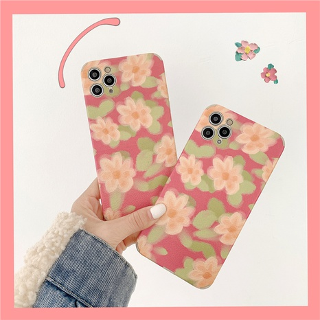 Korean oil painting flower phone case for iPhone8plus XR XS NHFI314494's discount tags