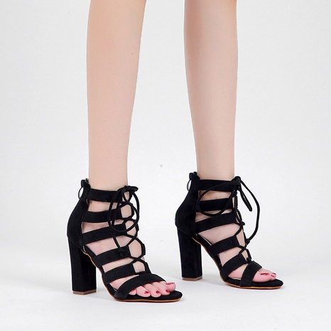 thick heel high-heeled strap Roman sandals   NHSO314522's discount tags