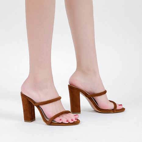 simple new fashion high-heeled sandals  NHSO314523's discount tags